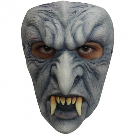 Masque latex adulte vampire gris