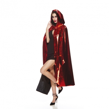 Cape adulte rouge en lurex